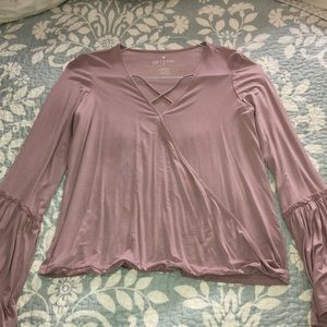 NEW never worn American Eagle pink crisscross top
